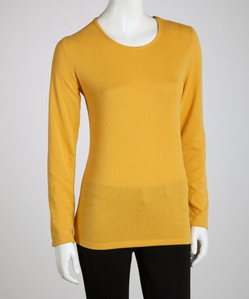 Mustard Long-Sleeve Top