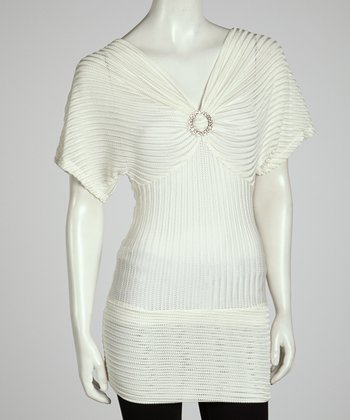 Ivory Ribbed Tunic