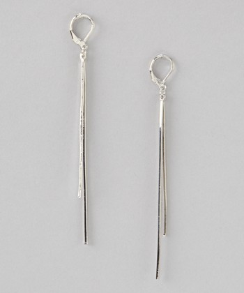 Silver Skinny Double Drop Earrings