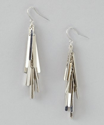 Silver Fringe Drop Earrings