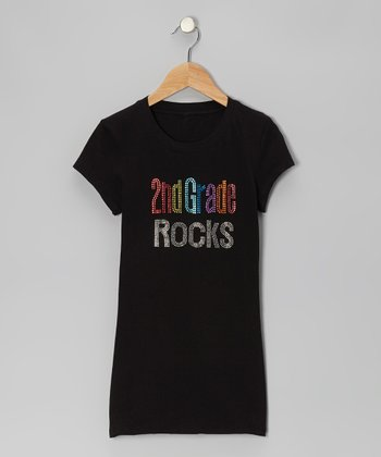 Black '2nd Grade Rocks' Short-Sleeve Tee - Women & Plus