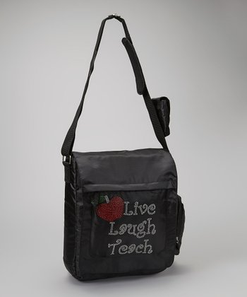 Black 'Live, Laugh, Teach' Bag - Women