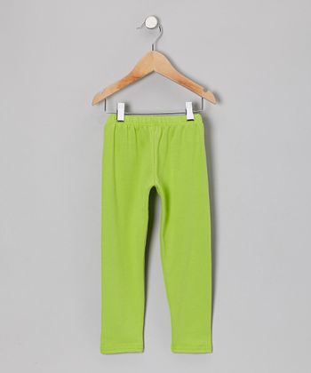 Lime Green Leggings - Infant, Toddler & Girls