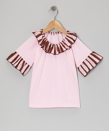 Pink Stripe Ruffle Top - Infant, Toddler & Girls