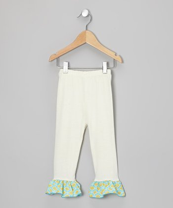 White Star Ruffle Leggings - Toddler & Girls