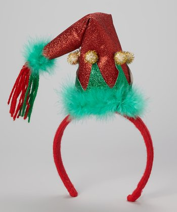 Red Elf Hat Headband