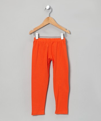 Orange Leggings - Toddler & Girls