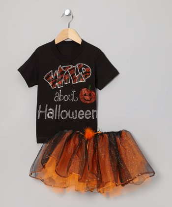 Black 'Wild About Halloween' Tee & Tutu - Toddler & Girls