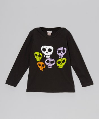 Black Spooky Skulls Tee - Infant, Toddler & Boys