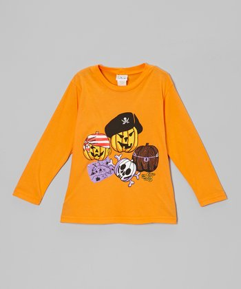 Orange Pirate Pumpkin Tee - Toddler & Boys