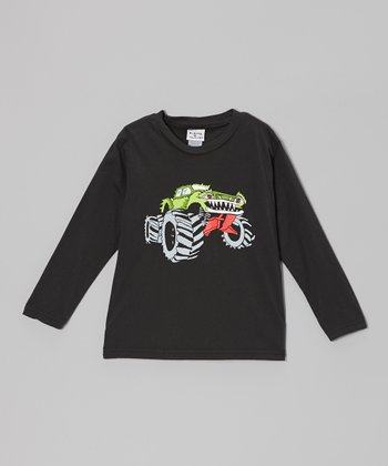 Charcoal Monster Truck Tee - Infant, Toddler & Boys
