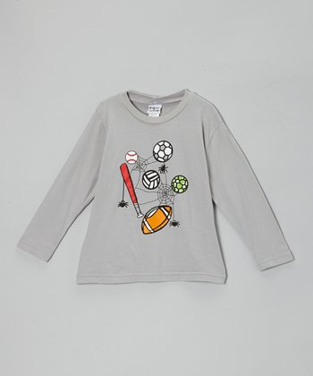 Gray Spooky Sports Tee - Infant, Toddler & Boys