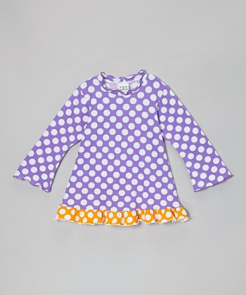 Grape Punch Polka Dot Ruffle Tunic - Infant, Toddler & Girls