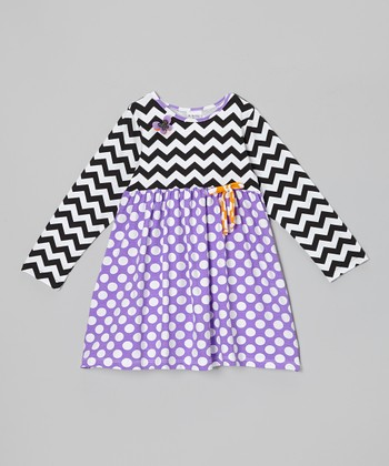 Grape Punch Polka Dot Babydoll Dress - Infant, Toddler & Girls