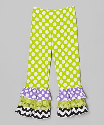 Kiwi Punch Triple Ruffle Pants - Toddler & Girls
