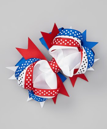 Patriotic Ribbon Medium Clip