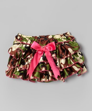 Green Camouflage Diaper Cover - Infant & Toddler