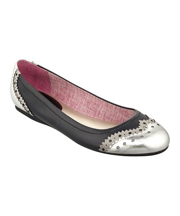 Black & Silver Civiane Flat
