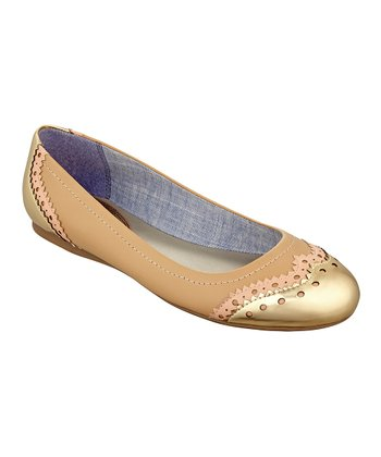Tan & Gold Civiane Flat