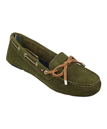 Green Ravelin Moccasin