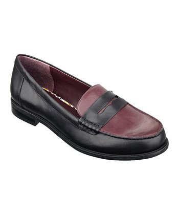Black & Red Leather Ramona Loafer