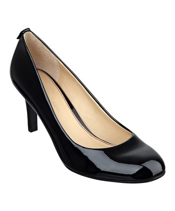 Black Leather Kadesa Pump