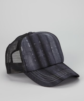 Black Tie-Dye Trucker Hat