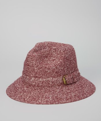 Maroon Buckle Bucket Hat