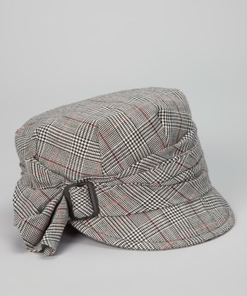 Black & White Plaid Cadet Cap