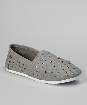 Gray Studded Slip-On Sneaker