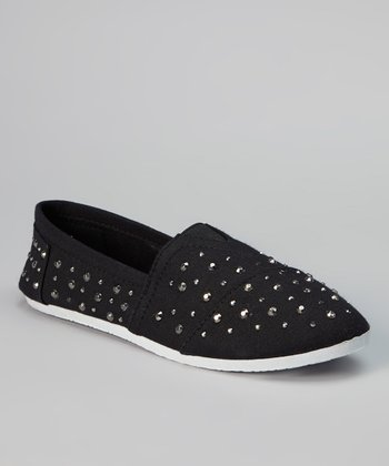Black Studded Slip-On Sneaker