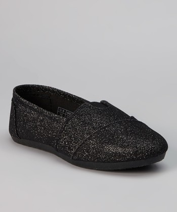 Black Shimmer Slip-On Sneaker