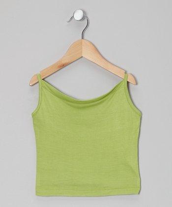 Little Handprint Lime Green Camisole - Toddler & Girls