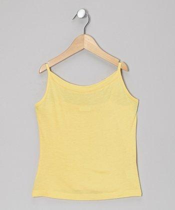 Little Handprint Yellow Camisole - Infant, Toddler & Girls