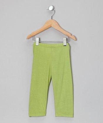 Little Handprint Lime Capri Pants - Infant, Toddler & Girls