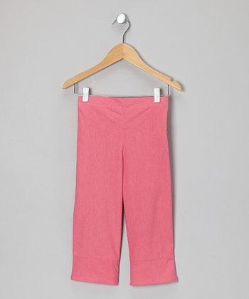 Little Handprint Pink Capri Pants - Toddler & Girls