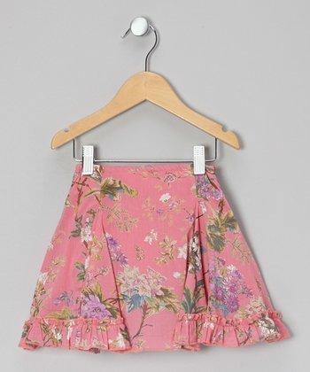 Little Handprint Pink Sardinia Fishtail Skirt - Infant, Toddler & Girls