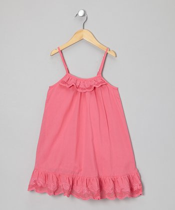 Little Handprint Raspberry Kristen Dress - Girls