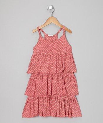 Little Handprint Pink Dhania Frill Tier Dress - Toddler & Girls