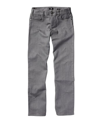 Gray Straight-Leg Jeans - Toddler & Boys