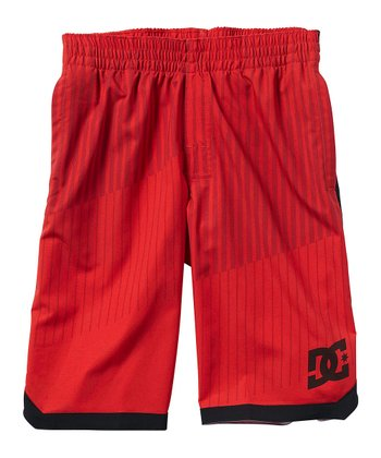 Red Walk Shorts - Boys