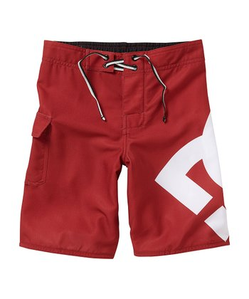 Dark Red Lanai Boardshorts - Boys