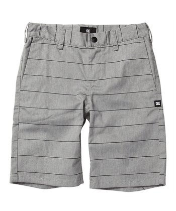 Gray Stripe Walk Shorts - Toddler & Boys