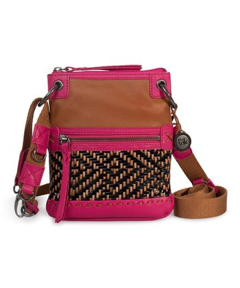 Black & Natural Woven Pax Crossbody Bag