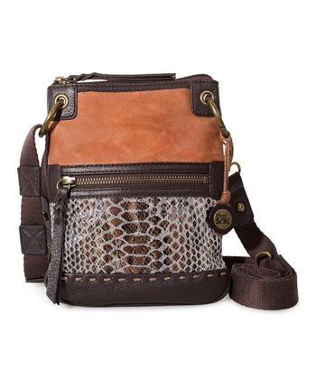 Brown Snake Pax Crossbody Bag