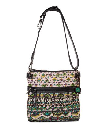 Plum One World Artist Circle Flat Crossbody Bag