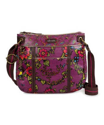 Berry Artist Circle Crossbody Bag