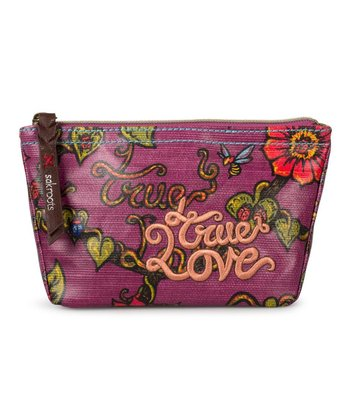 Berry 'True Love' Artist Circle Cosmetic Case