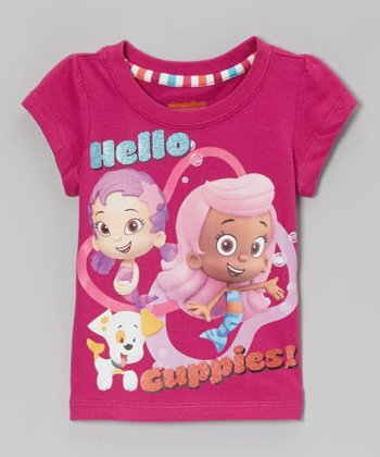 Fuchsia 'Hello Guppies' Tee - Toddler