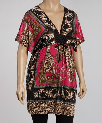 Fuchsia & Black Status Tunic - Plus